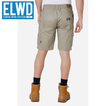 Load image into Gallery viewer, Elwd Workwear - Elastic Utility Shorts Cotton Canvas Stone