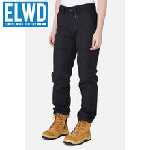 Load image into Gallery viewer, Elwd Workwear - Ladies Basic Pant Cotton/poly Black