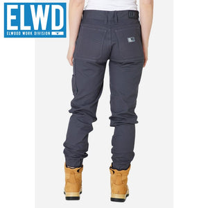 Elwd Workwear - Ladies Cuffed Pant Cotton/poly Charcoal