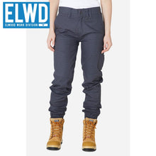 Load image into Gallery viewer, Elwd Workwear - Ladies Cuffed Pant Cotton/poly Charcoal