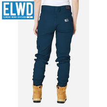 Load image into Gallery viewer, Elwd Workwear - Ladies Cuffed Pant Cotton/poly Navy