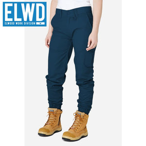 Elwd Workwear - Ladies Cuffed Pant Cotton/poly Navy