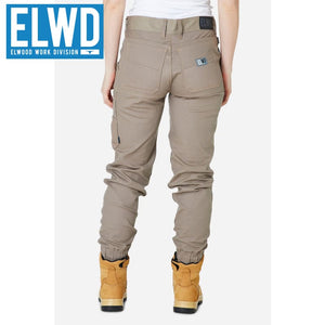 Elwd Workwear - Ladies Cuffed Pant Cotton/poly Stone