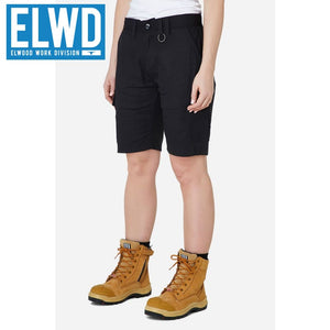Elwd Workwear - Ladies Utility Shorts Cotton Canvas Black
