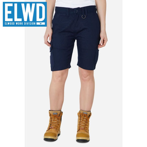 Elwd Workwear - Ladies Utility Shorts Cotton Canvas Navy