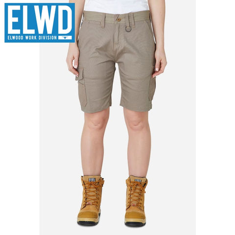 Elwd Workwear - Ladies Utility Shorts Cotton Canvas Stone