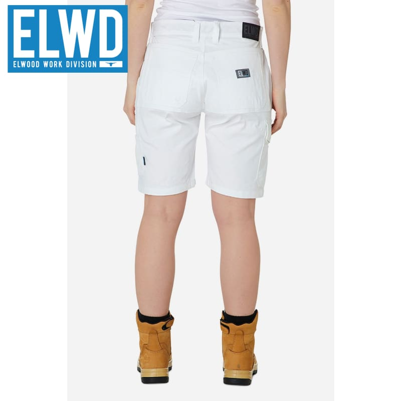 Elwd Workwear - Ladies Utility Shorts Cotton Canvas White
