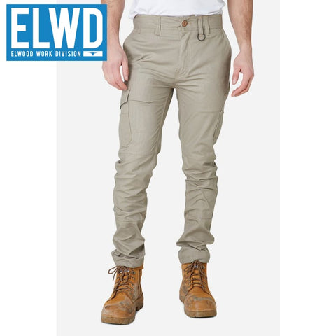 Elwd Workwear - Slim Pant Cotton/poly Stone