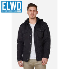 Load image into Gallery viewer, Elwd Workwear - Utility Jacket Coated Canvas Black