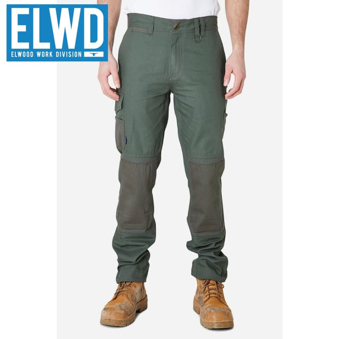 Elwd Workwear - Utility Pant Cotton Canvas Army