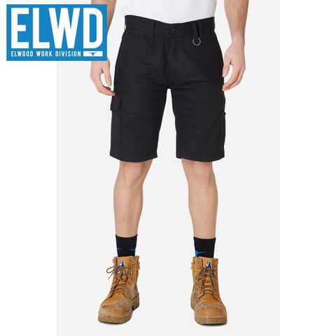 Elwd Workwear - Utility Shorts Cotton Canvas Black
