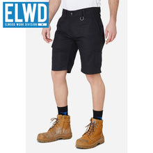 Load image into Gallery viewer, Elwd Workwear - Utility Shorts Cotton Canvas Black