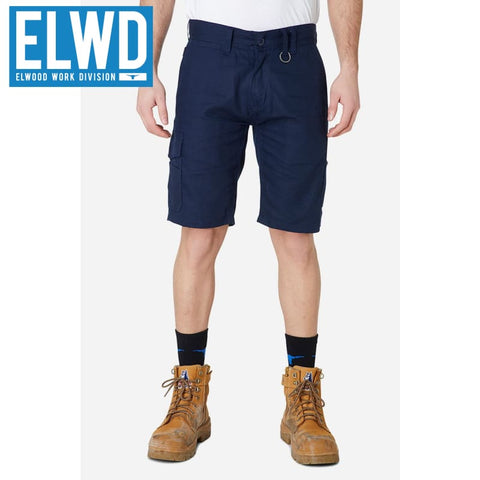 Elwd Workwear - Utility Shorts Cotton Canvas Navy