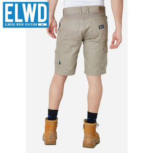 Elwd Workwear - Utility Shorts Cotton Canvas Stone