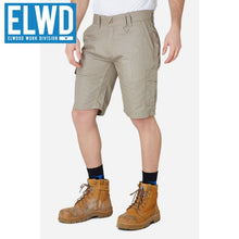 Load image into Gallery viewer, Elwd Workwear - Utility Shorts Cotton Canvas Stone
