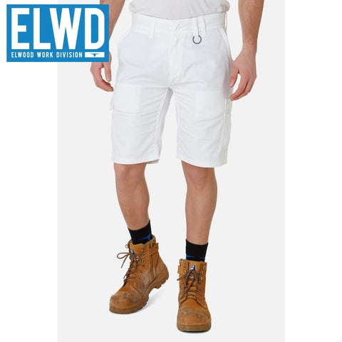 Elwd Workwear - Utility Shorts Cotton Canvas White
