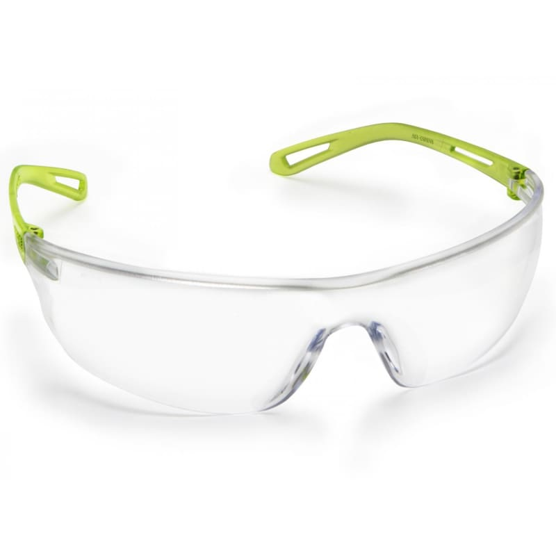 Force360 Air Clear Anti-Reflective Lens Safety Spectacle Lime Wear