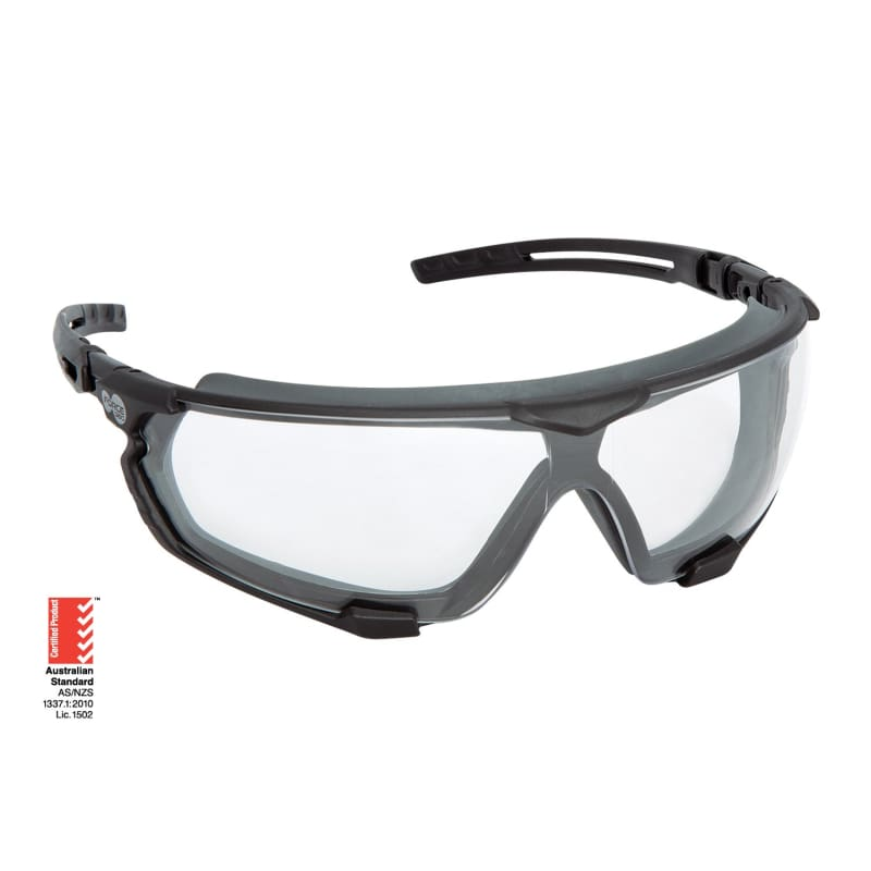 Force360 Arma Si Clear Lens Safety Spectacle With Gasket Black Wear