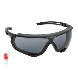 Force360 Arma Si Smoke Lens Safety Spectacle With Gasket Black Wear