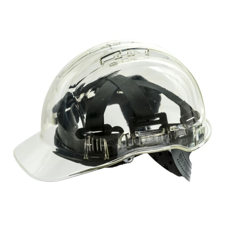 Force360 Clearview Hard Hat 6 Point Pinlock Harness Type 2 Clear Safety Wear