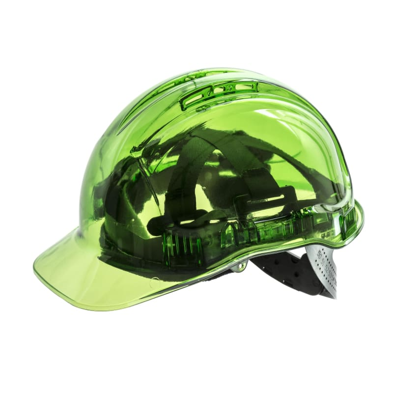 Force360 Clearview Hard Hat 6 Point Pinlock Harness Type 2 Green Safety Wear