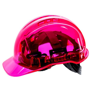 Force360 Clearview Hard Hat 6 Point Pinlock Harness Type 2 Pink Safety Wear