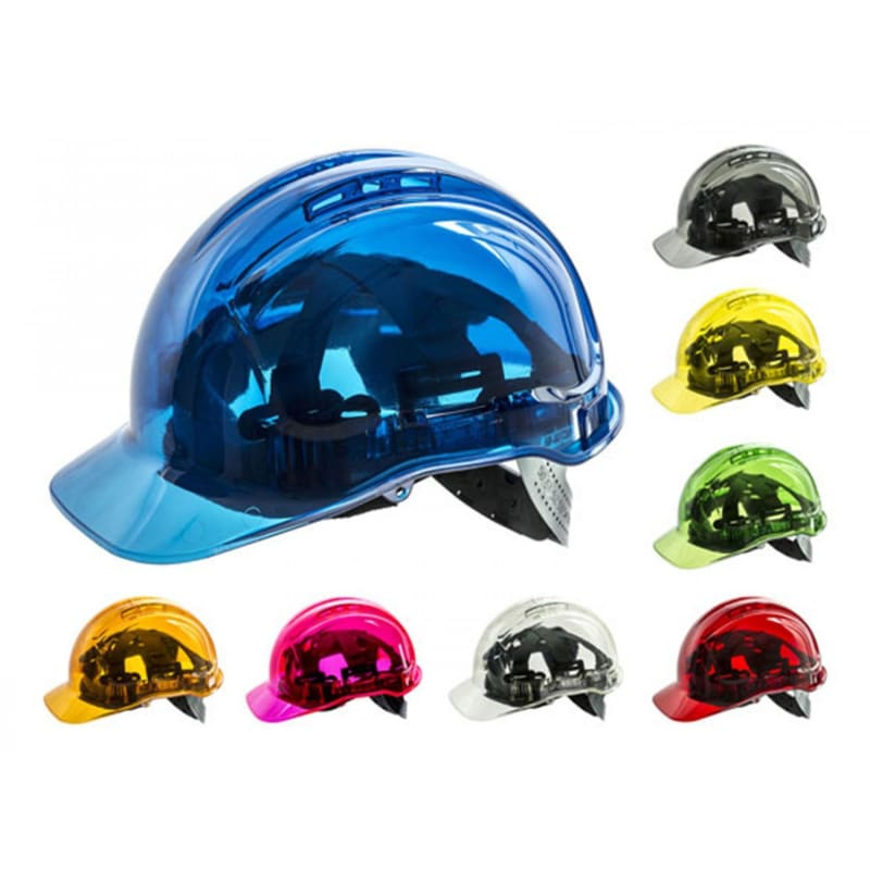 Force360 Clearview Hard Hat Starter Kit Ratchet (Ctn 20 Assorted Colours) Mixed Safety Wear