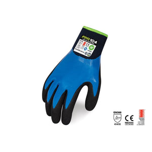 Force360 Coolflex Agt Wet Repel Nitrile Glove Black/blue Safety Wear