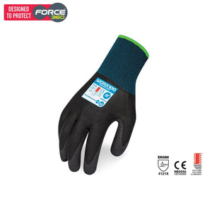 Force360 Eco Nitrile Foam Glove Black Safety Wear