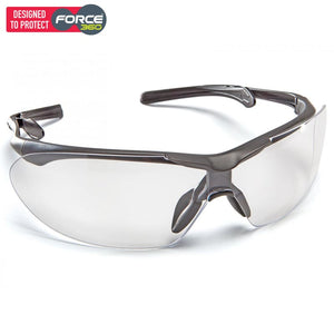 Force360 Eyefit Clear Lens Safety Spectacle Black Wear