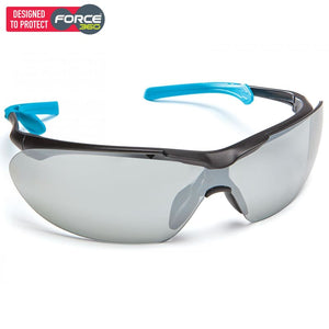 Force360 Eyefit Silver Mirror Lens Safety Spectacle Blue Wear