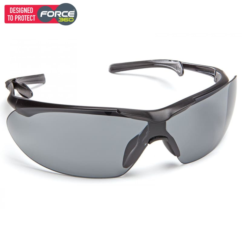 Force360 Eyefit Smoke Lens Safety Spectacle Black Wear