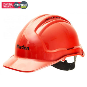 Force360 Fire Warden Hard Hat Red Safety Wear