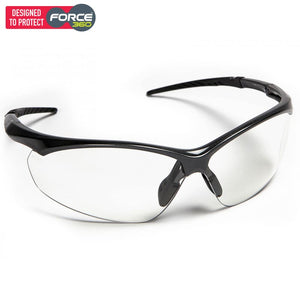 Force360 Flight Clear Kn Lens Safety Spectacle Black Wear