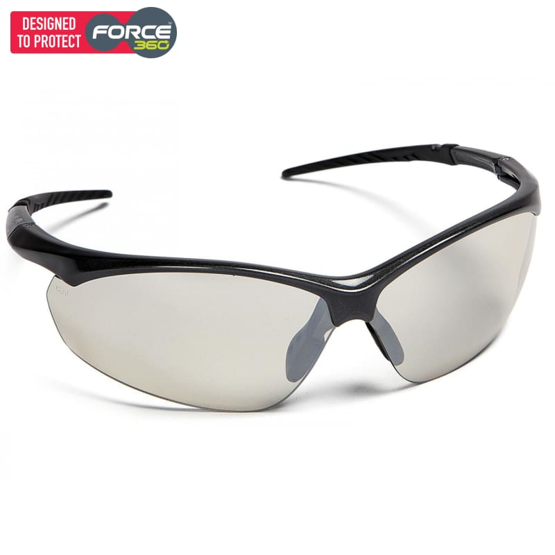Force360 Flight Clear Mirror Lens Safety Spectacle Black Wear