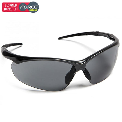 Force360 Flight Smoke Lens Safety Spectacle Black Wear