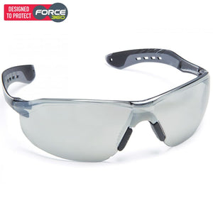 Force360 Glide Silver Mirror Lens Safety Spectacle Grey Wear
