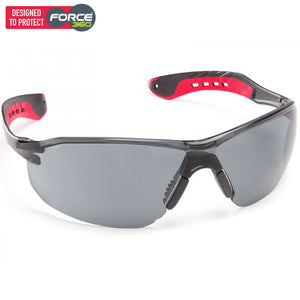 Force360 Glide Smoke Lens Safety Spectacle Red Wear