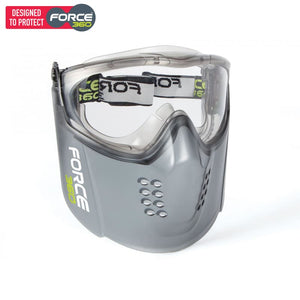 Force360 Guardian+ Clear Lens Goggle And Visor Combo Grey Safety Wear
