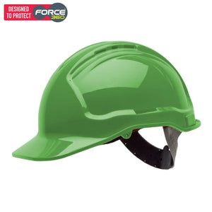 Force360 Hard Hat Vented 6 Point Pinlock Harness Type 1 Green Safety Wear
