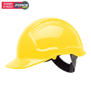 Force360 Hard Hat Vented 6 Point Pinlock Harness Type 1 Yellow Fluro Safety Wear