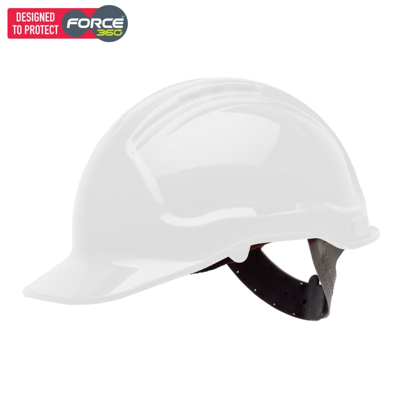 Force360 Hard Hat Vented 6 Point Pinlock Harness Type 2 White Safety Wear