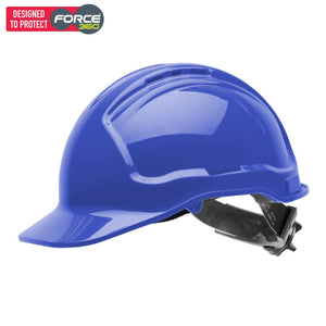 Force360 Hard Hat Vented 6 Ratchet Harness Type 1 Blue Safety Wear