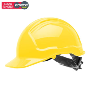Force360 Hard Hat Vented 6 Ratchet Harness Type 1 Fluro Yellow Safety Wear