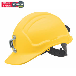 Force360 Miners Hard Hat Metal Lamp Bracket Unvented Type 1 Yellow Safety Wear
