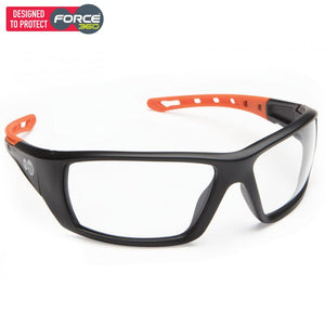 Force360 Mirage Clear Lens Safety Spectacle Orange Wear