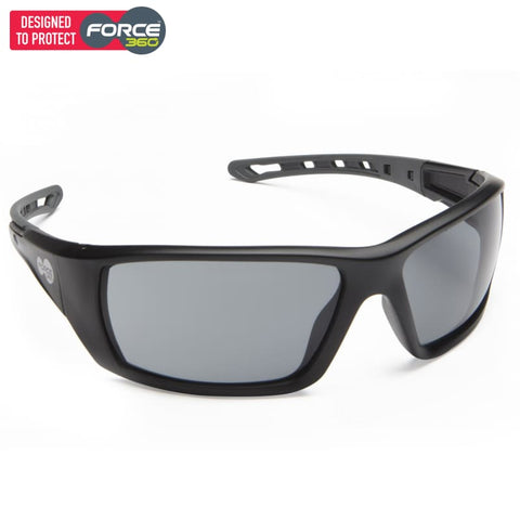 Force360 Mirage Smoke Lens Safety Spectacle Black Wear