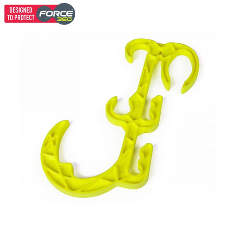 Force360 Multipurpose Suspension Hook Bulk Pack (Pack Of 5) Lime Safety Wear