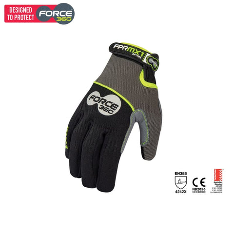 Force360 Mx1 Optima Mechanics Glove Black Safety Wear