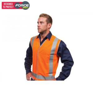 Force360 Orange Day & Night Safety Vest Wear